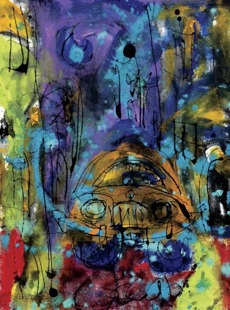 Mixed Media on Canvas Original Oska Vekio