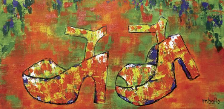 Heels II- Mixed Media on Canvas - Martha Bolio
