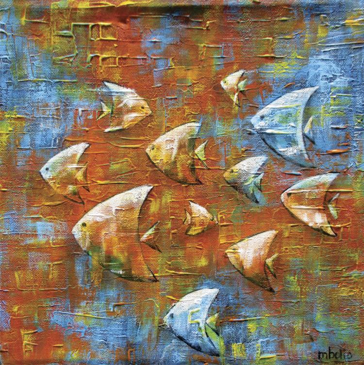 Original Mixed Media on Canvas- Martha Bolio