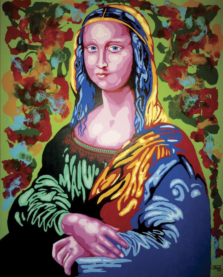 La Gioconda -Mixed Media on Canvas- Mateo Pineda