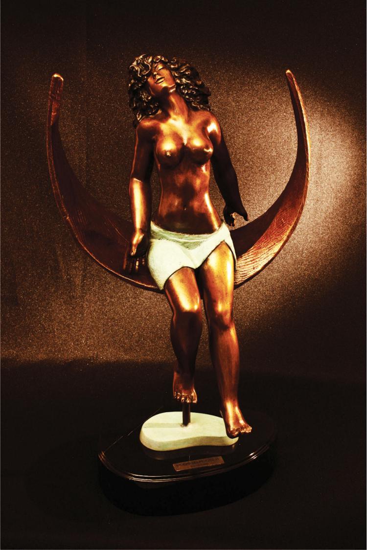 Liberte- Bronze Scultpure on Marble Base- Noemi Belmonte