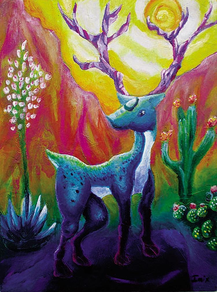 Hikuri - Oil on canvas- Tonatiuh