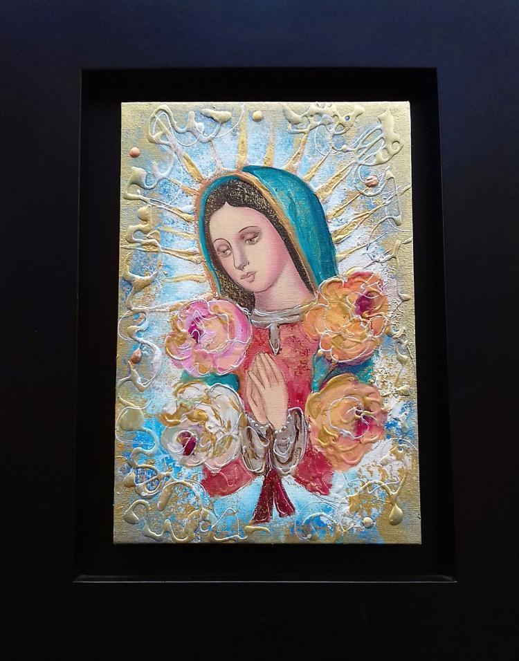 Religious Icon-Original Mixed Media on Canvas