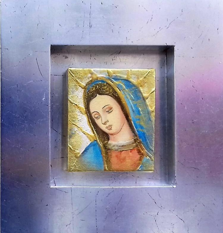 Original Mixed Media on Canvas-Virgin Mary