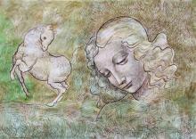 Longing For Alexander-Original Ink on Archival Paper- Francisco Bravo