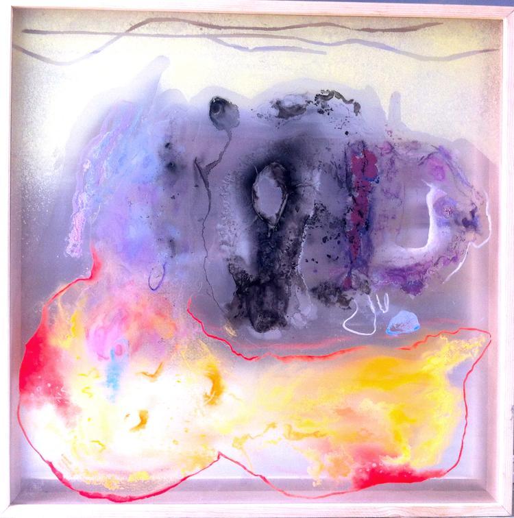 Sensations- Mixed Media on Canvas- Leonor Hochschild-Organic Artist