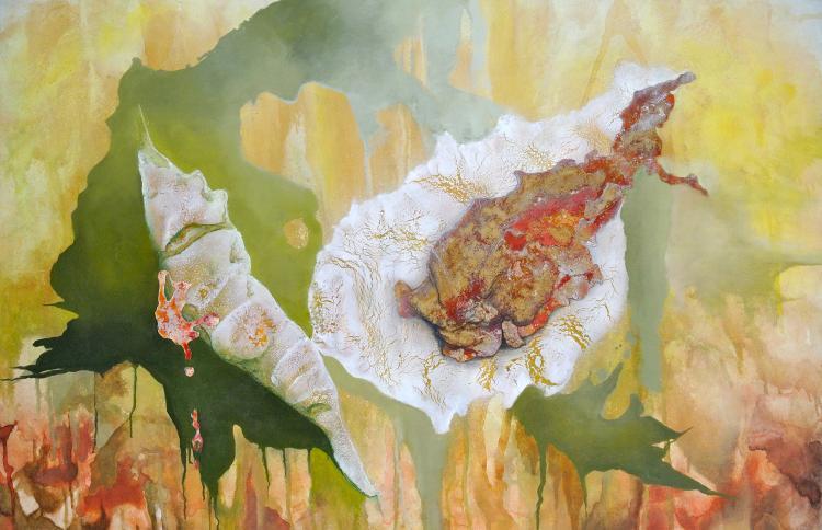 Natura- Mixed Media on Canvas- Leonor Hochschild-Organic Artist