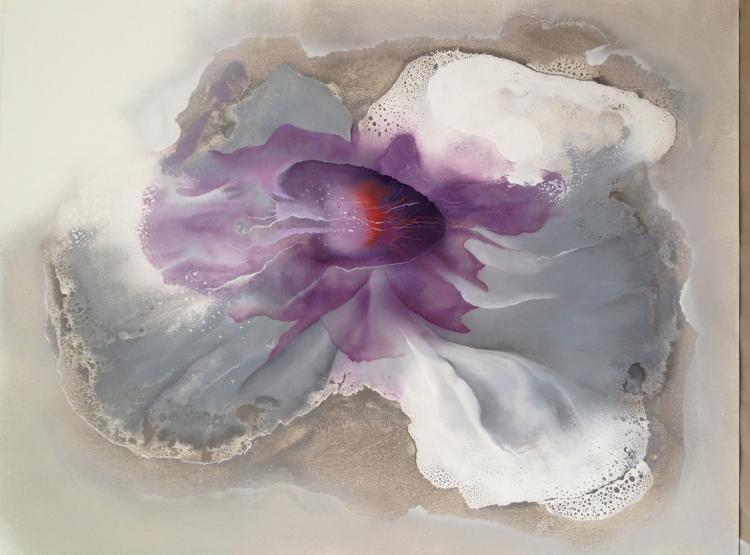 Orchid Creation- Mixed Media on Canvas -Leonor Hochschild-Organic Artist