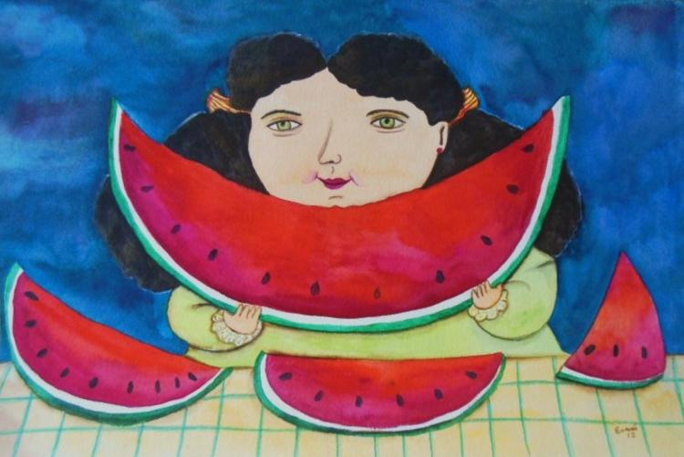 Mexican Folk Art-Watercolor on Archival paper Original by Esau Andrade