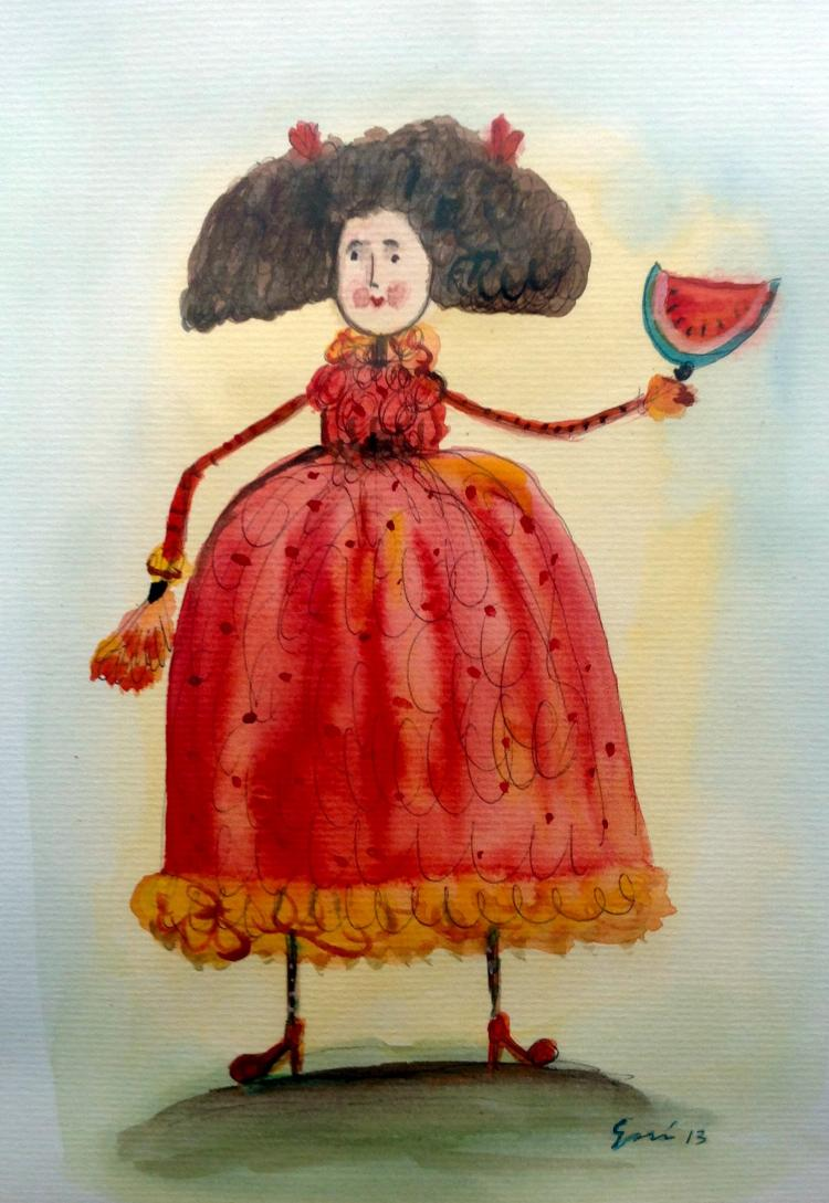 Mexican Folk Art-Watercolor on Archival Paper- Original by Esau Andrade