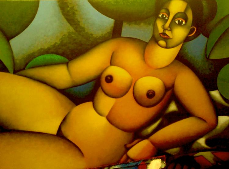 Nude Woman, Oh My-Original Acrylic on Canvas- Beltran