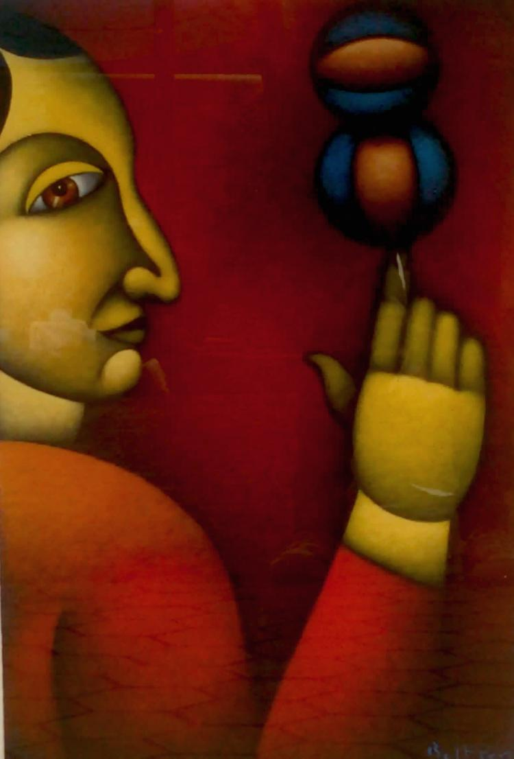 Balancing Act-Original Acrylic on Canvas- Beltran