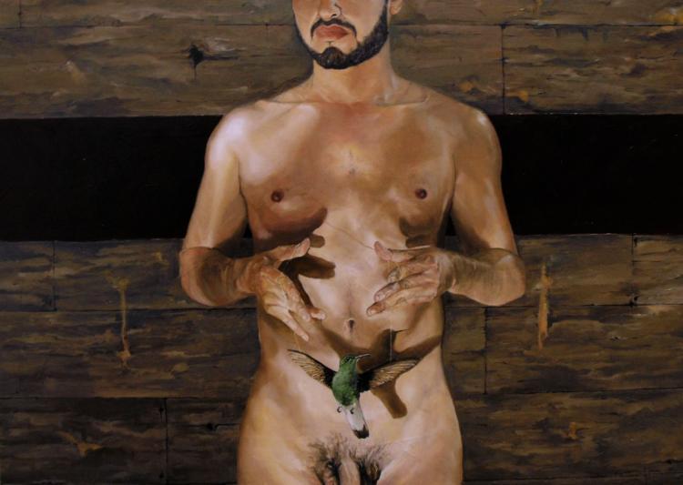 Dream Catcher-Oil on Board-Cesar Meza