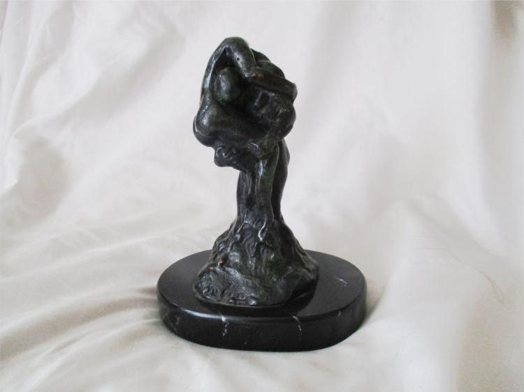 Creation- Original Scultpure Bronze on Marble Base- Jose Velasco Bello
