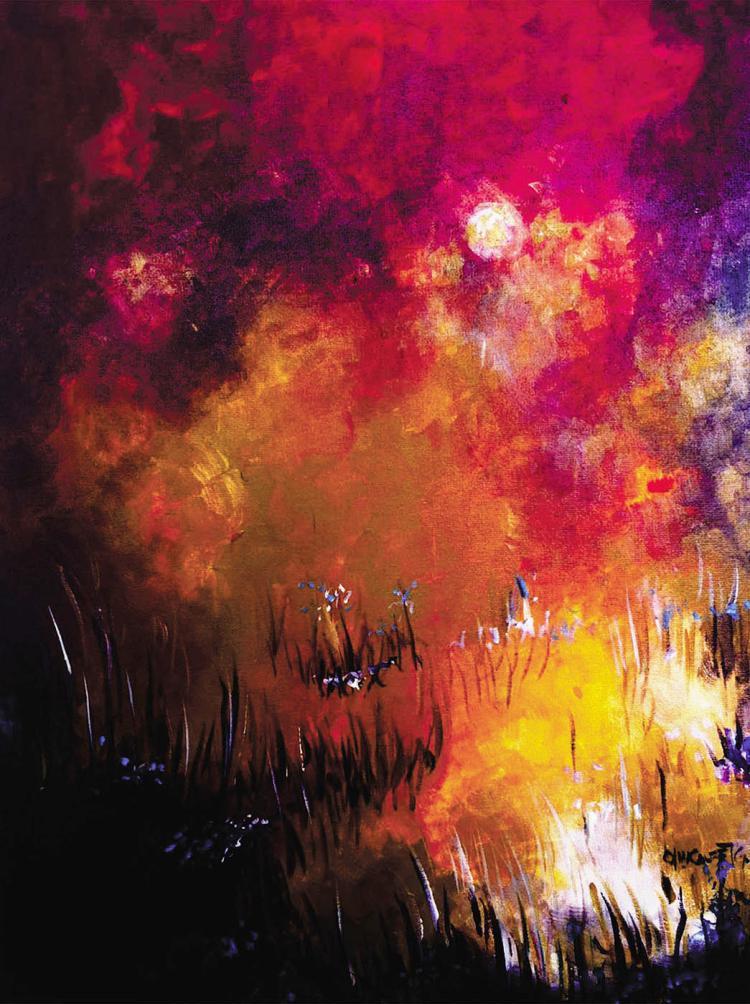 Incandecent Windblow- Acrylic on Canvas Original- Alexandra Macouset