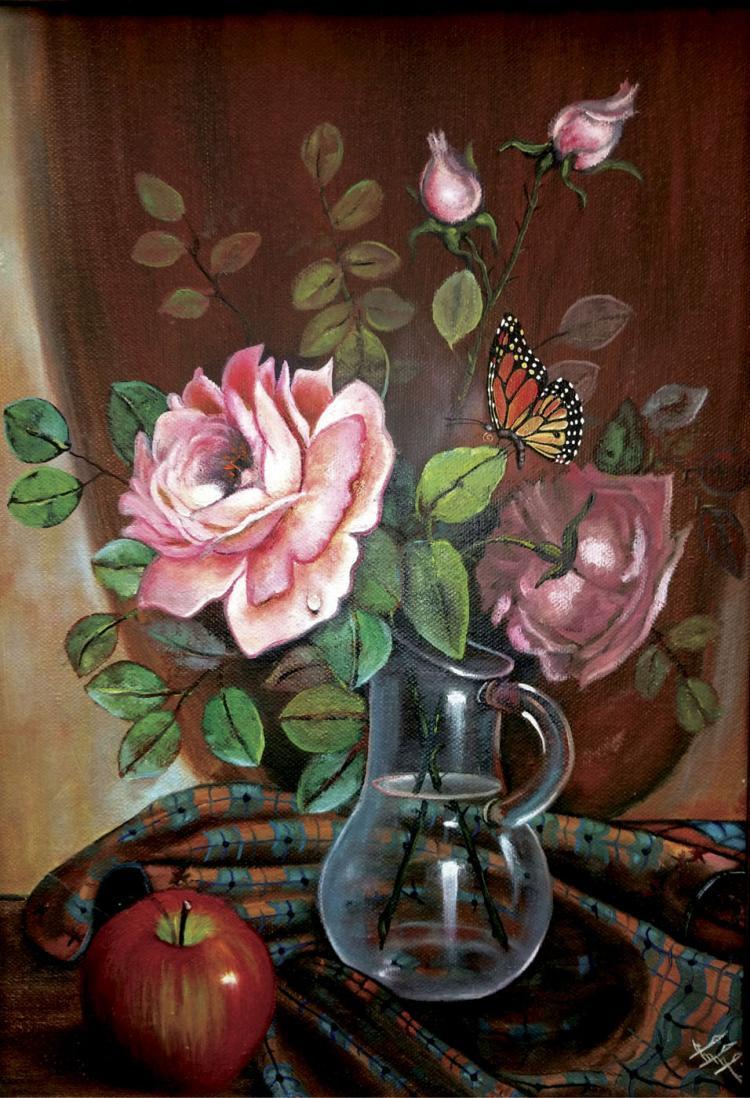 Floral Fagrance-Oil on Canvas Original Moto