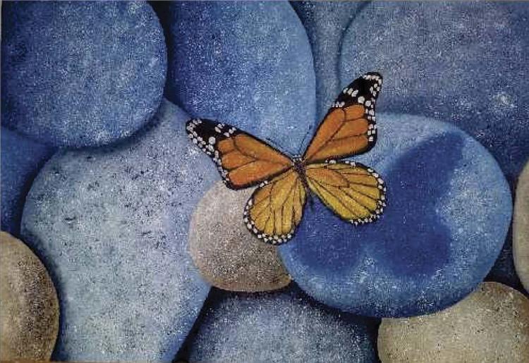 Blue Rock Monarch-Oil on Canvas Original Ceballos
