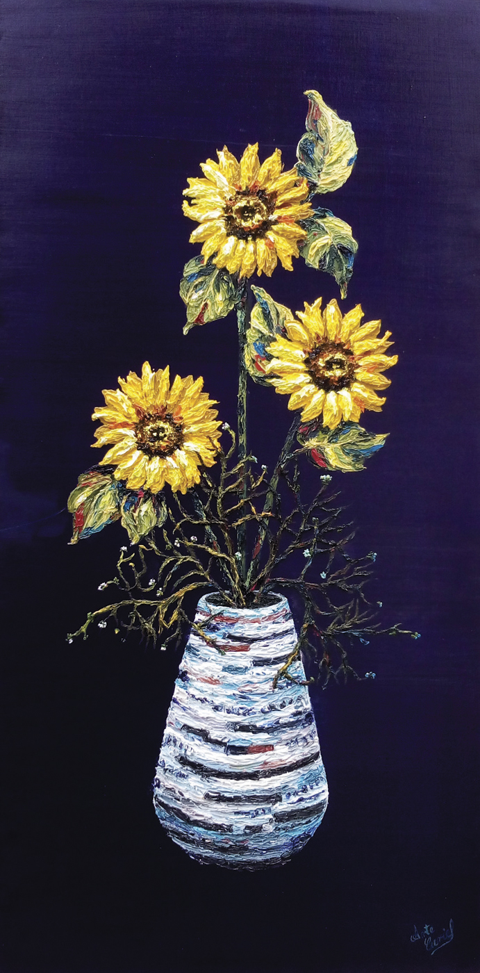 Sunflower Composition-Oil on Canvas Original Tello