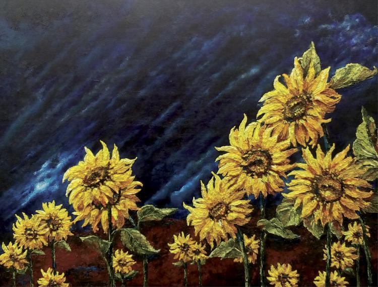 Sunflower Fields-Oil on Canvas Original Tello
