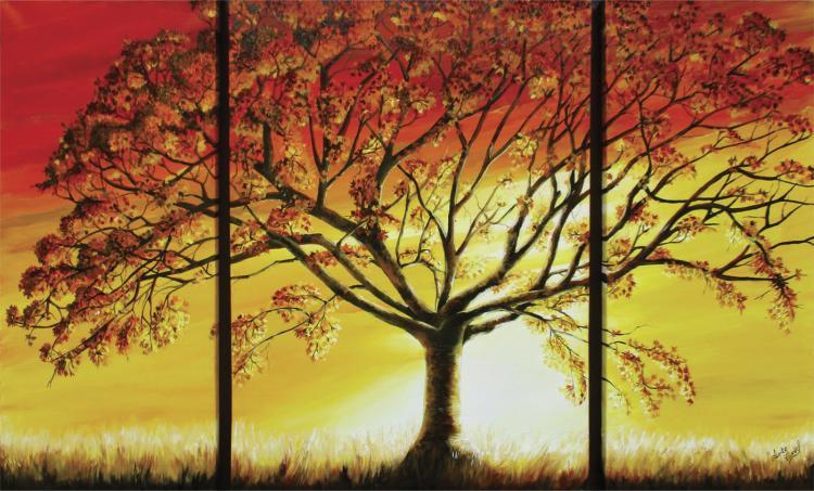 Sabana Sunset- Oil on Canvas Original Tello