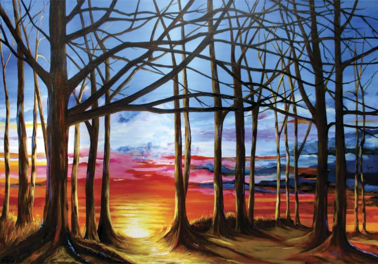 Sunset- Oil on Canvas Original Tello