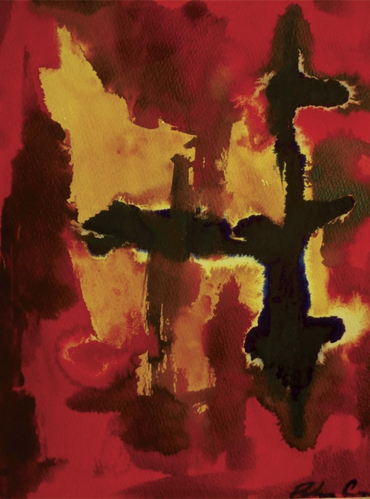 Stigma-Watercolor on Archival Paper by Cardona Cuevas