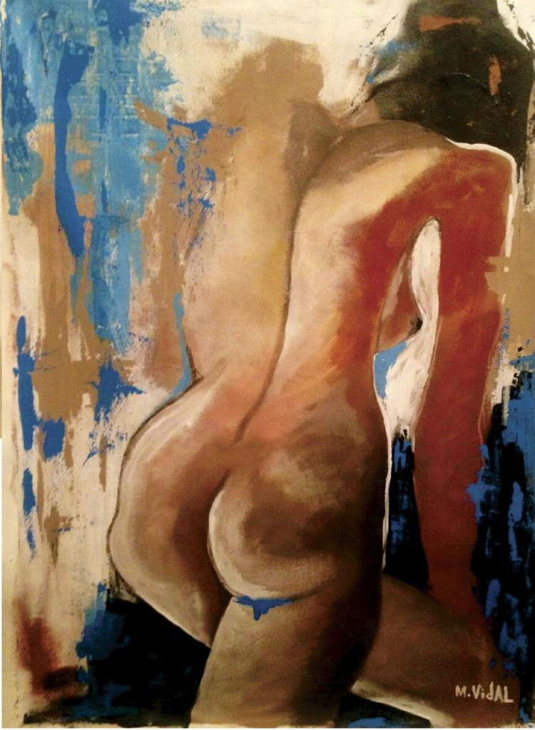 Original Acrylic On Canvas-Melba Vidal