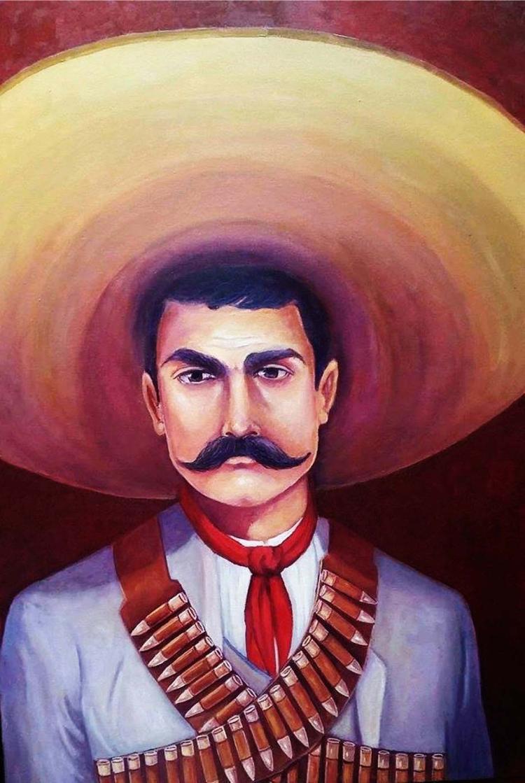 Viva Zapata- Oil on Canvas-Antonio Huizar