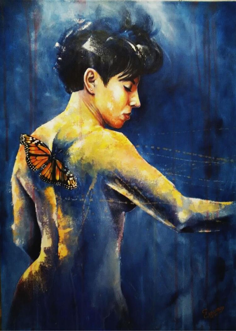 Monarch of Freedom- Acrylic on Canvas- Gorcha Enrique Garcia De Leon