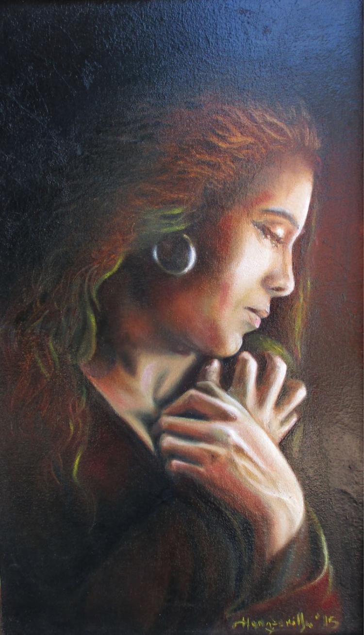 Mary Magdalene-Original Oil on Canvas- Hanz