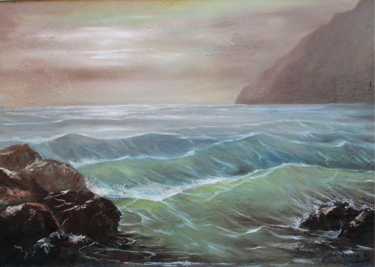 Irridescent Sunset-Original Oil on Canvas- Hanz