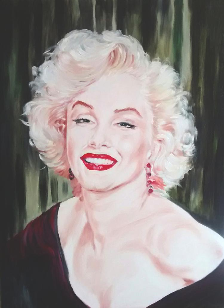 Marilyn Monroe-Original Oil on Canvas
