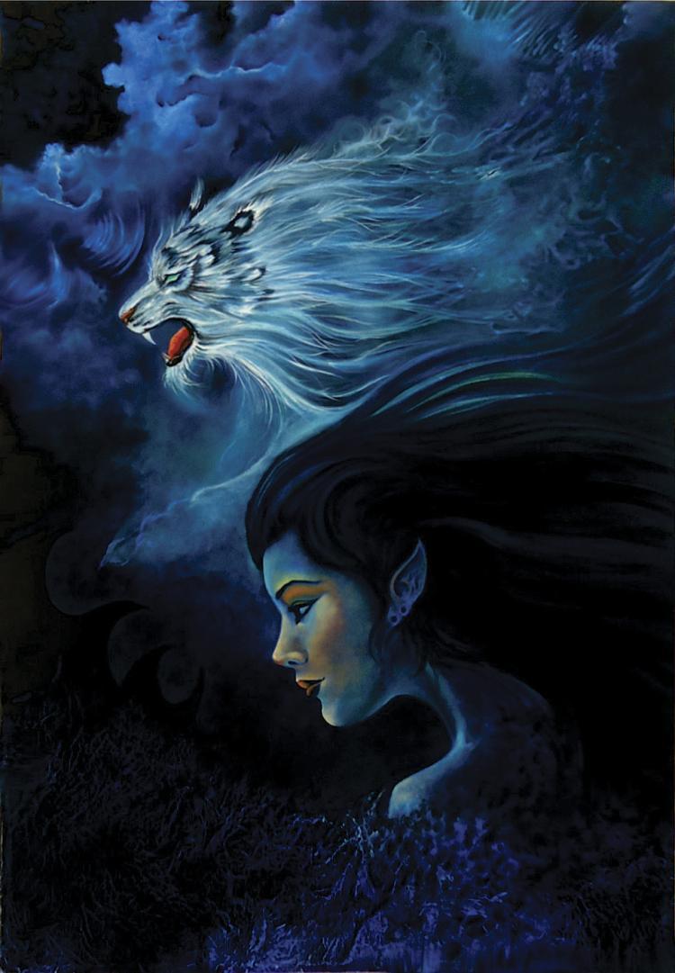 Blue Spirit of The North- Oil on Canvas Original Serafin