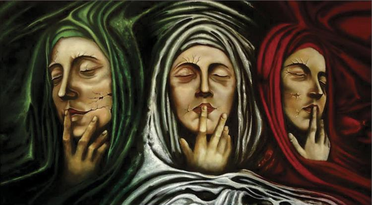 Three Marys-Original Oil on Canvas