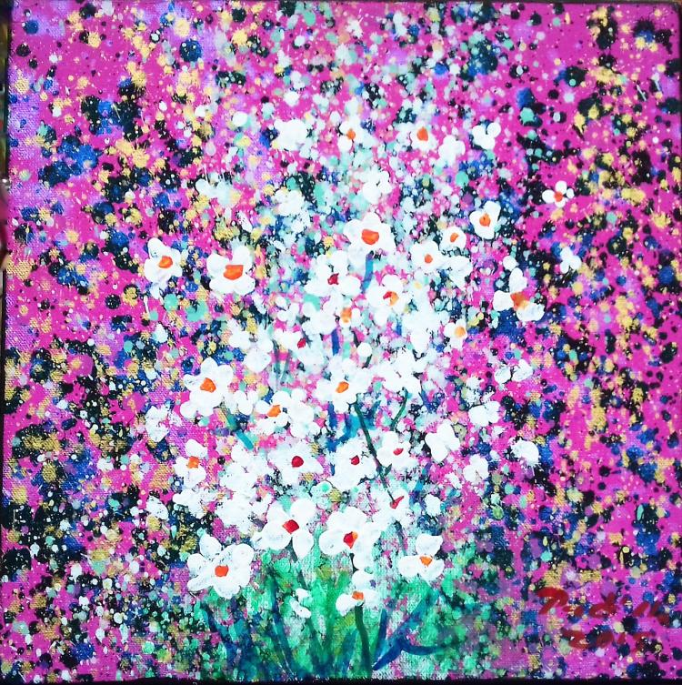 Pink Blossoms-Oil on Canvas- Ernesto Padillo