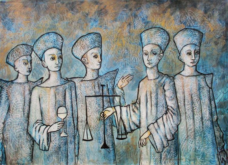 Enlightened Ones-Original Ink on Archival Paper- Francisco Bravo