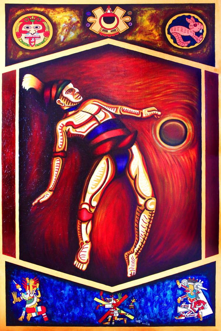 Code of Tlalpan-Acrylic on Canvas-  Rene Linares
