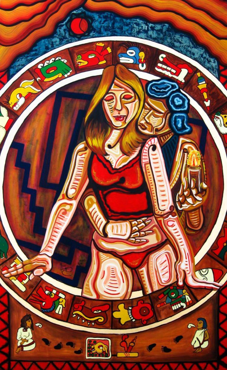 Codice Tlalpan-Acrylic on Canvas- Rene Linares
