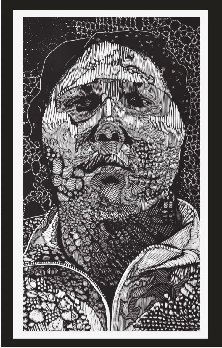 Full Face-Xylography- Carmen Rodriguez