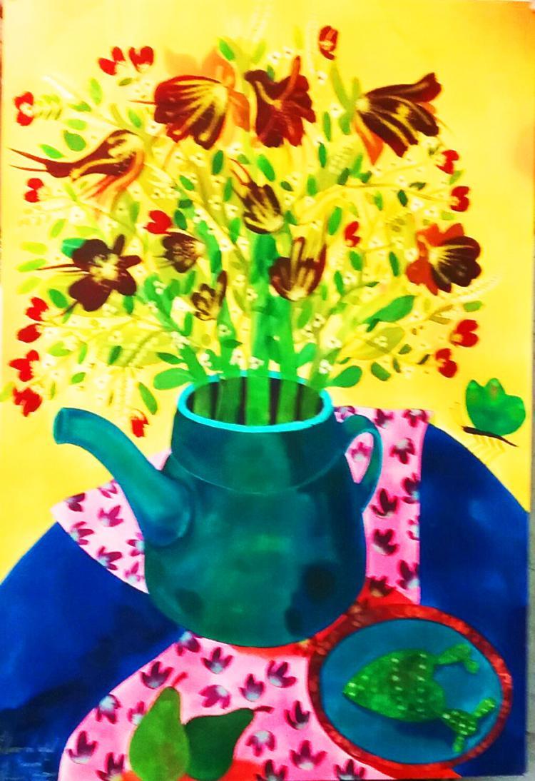 Tea Time-Watercolors on Archival Paper- Hortencia Bueno