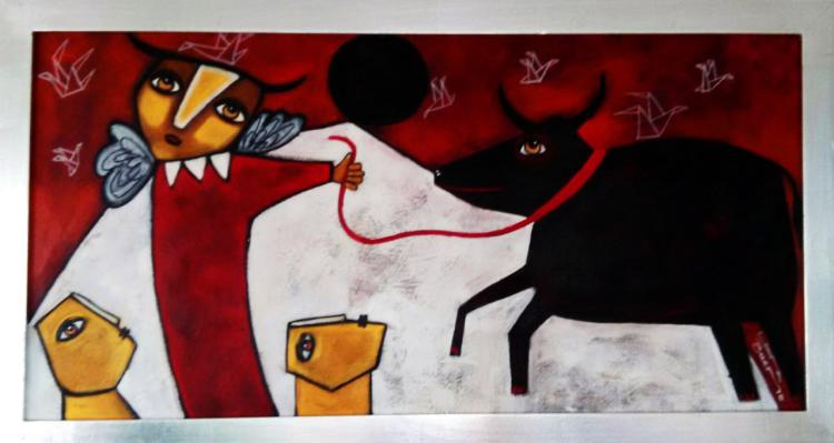 Bull's Angel-Acrylic on Canvas- Laura Bueno