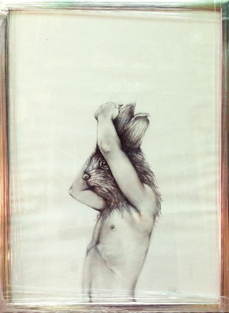 Rabbit- Graphite on Archival Paper- Gabriela Garcia