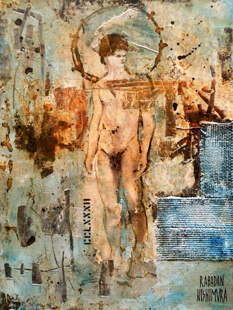 Natural Corrosion- Oil on Cardboard- Rene Rabadan