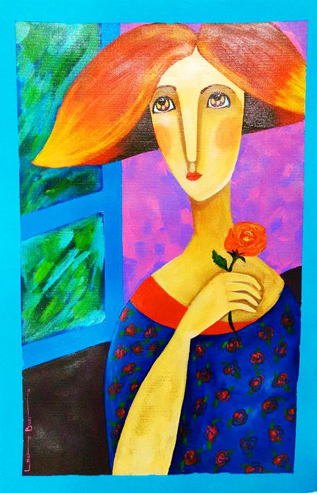 Angela-Acrylic on Paper- Laura Bueno