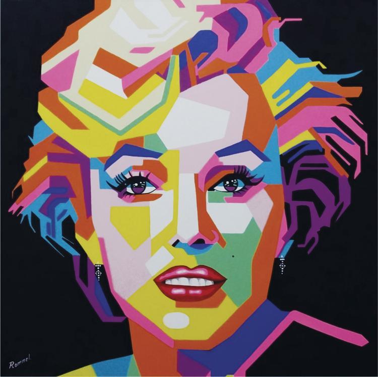 Neon Marilyn Monroe by Rommel