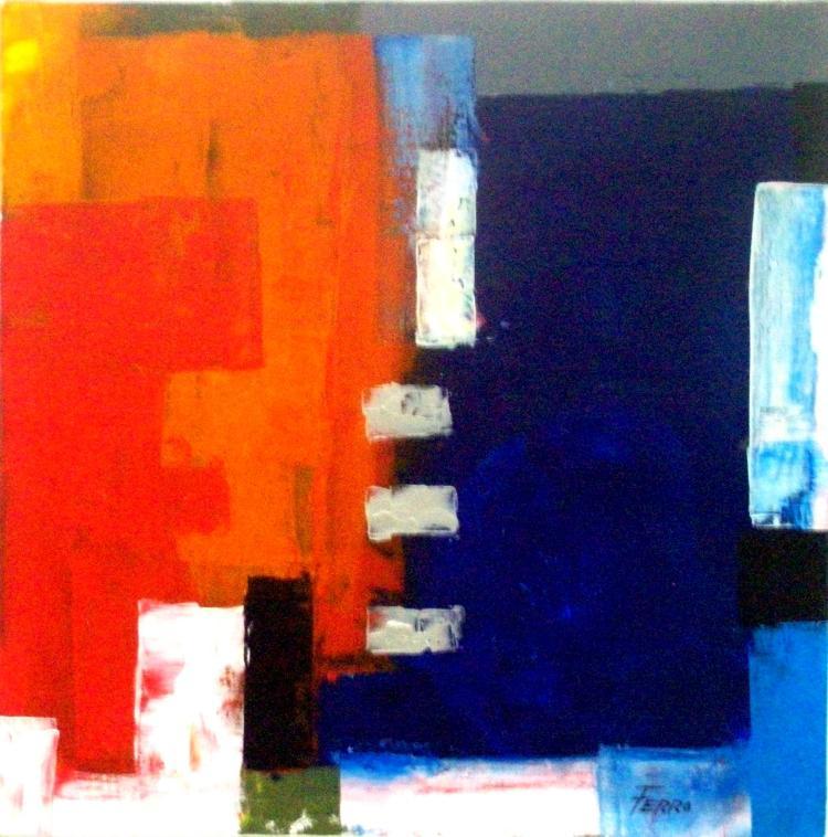 Colorful Maze-Acrylic on Canvas Original-Alfonso Ferro