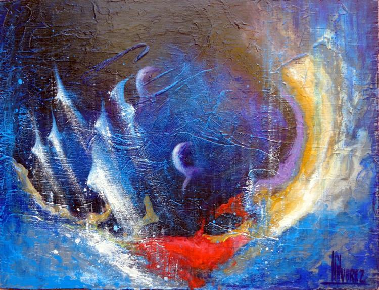 Cosmic Rebirth- Original Acrylic-High End Mexican Master-Modern Art
