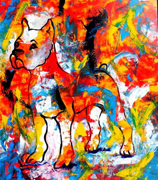 Original Abstract-Acrylic on Canvas