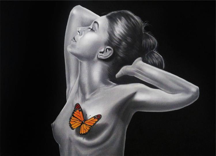 Original Oil on Canvas High End David Escobar