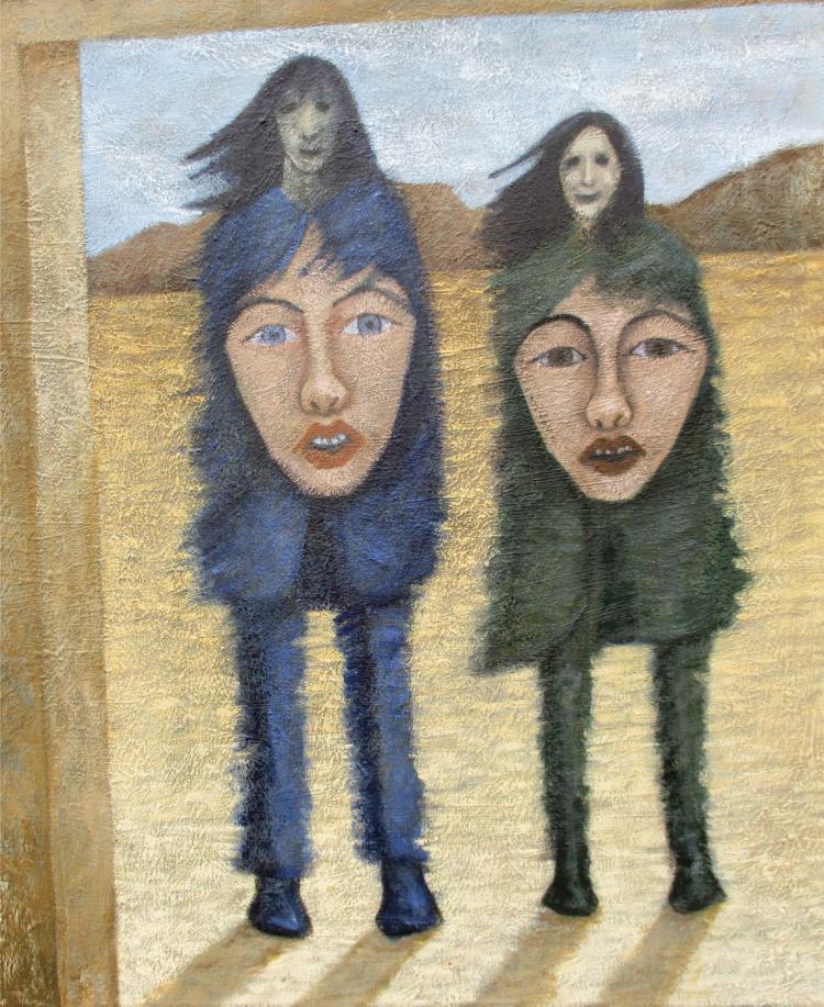 Visitors-Oil on Canvas Original- Arthur Romani